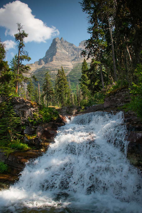 Reynolds Mountain and Virginia Creek Cascades, Glacier National Park, Montana, US