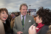 RUBY WAX; KATHY LETTE, Hennessy Gold Cup, The Racecourse Newbury. 30 November 2013.