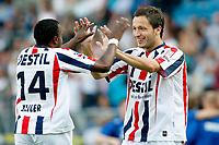willem II - vitesse  , 01-08 -2009  , eredivisie voetbal , seizoen 2009-2010 . christophe gregoire na treffer