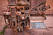 Old typesetting machine, Dolores, Colorado