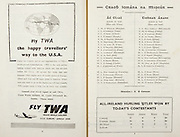 All Ireland Senior Hurling Championship Final,.Programme, .06.09.1953, 09.06.1953, 6th September 1953,.Cork 3-3, Galway 0-8, .Minor Dublin v Tipperary, .Senior Cork v Galway, .Croke Park, 0691953AISHCF,..Advertisements, Fly TWA, Travel World Airlines, ..Dublin Minor Team, M Meagher, T Toner, T O'Neill, S Murphy, M Bohane, B Boothman, S D'Art, T Bracken, R Feely, A Cavanagh, U Bell, T Synnott, L Rowe, E Clarke, C. Feely, Substitutes, S Casserley, S Treacy, L Shannon, P McGuirk, N Donnellan,..Tipperary Minor Team, T. McCormack, M Cleary, A Kelly, P Barry, L Quinn, R Reidy, S Kenny, L. Quinn, M Kennedy, L Devaney, S Murphy, S McLoughlin, S Corcoran, M Stapleton, L Connolly, Substitutes, R Ryan, S Ryan, P Hallinan, R O'Donnell,  M. Dwyer,