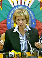 A governadora eleita do Rio Grande do Sul, Yeda Crusius durante coletiva de imprensa. FOTO: Jefferson Bernardes/Preview.com