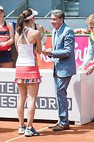 Martina Hingis and Manolo Santana during Mutua Madrid Open Tennis 2017 at Caja Magica in Madrid, May 13, 2017. Spain.<br /> (ALTERPHOTOS/BorjaB.Hojas)