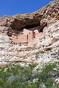 A vertical picture of Montezuma Castle in Arizona. Missoula Photographer