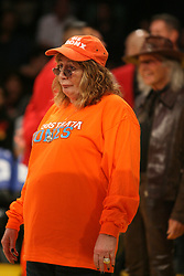 Dec. 29, 2011 - Los Angeles, CA, United States - December 29, 2011; Penny Marshall watching the warm ups. The Los Angeles Lakers defeated the New York Knicks by the final score of 99-82 at Staples Center in downtown Los Angeles, CA. (Credit Image: © Paul Lane/ZUMAPRESS.com)