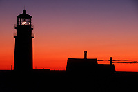 Sunset at Highland Lighthouse in Truro, MA. 10/24/99  slide film<br /> <br /> printed for clancy's restaurant