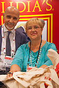 Lidia Bastianich at the Fancy Food Show in New York City
