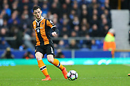 Andrew Robertson of Hull City in action. Premier league match, Everton v Hull city at Goodison Park in Liverpool, Merseyside on Saturday 18th March 2017.<br /> pic by Chris Stading, Andrew Orchard sports photography.