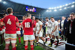 The England team leave the field after the match - Mandatory byline: Patrick Khachfe/JMP - 07966 386802 - 12/03/2016 - RUGBY UNION - Twickenham Stadium - London, England - England v Wales - RBS Six Nations.
