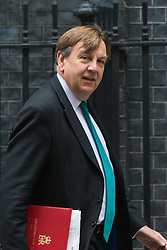 Downing Street, London, October 20th 2015.  Secretary of State for Culture, Media and Sport John Whittingdale leaves 10 Downing Street after attending the weekly cabinet meeting