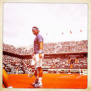 Roland Garros 2011. Paris, France. May 28th 2011..Spanish player Rafael NADAL against Antonio VEIC (Court Philippe Chatrier)