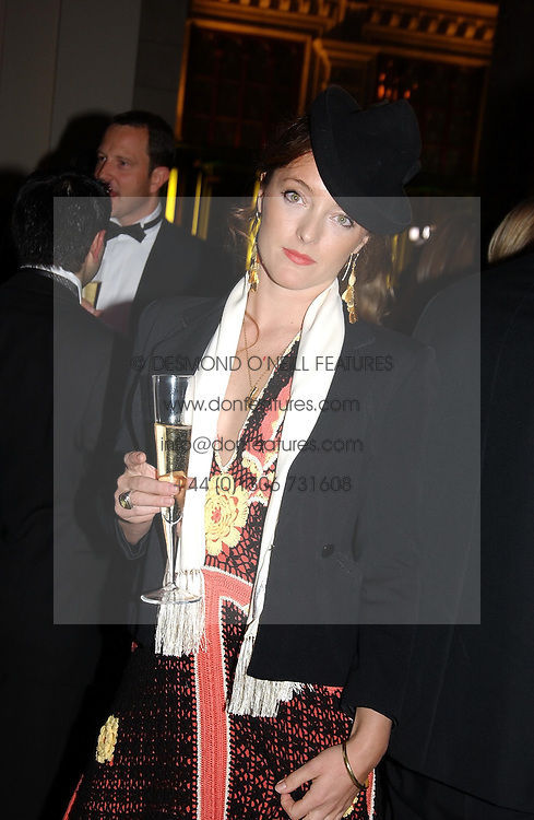 Fasion designer ALICE TEMPERLEY at the 2004 British Fashion Awards held at Thhe V&A museum, London on 2nd November 2004.<br /><br />NON EXCLUSIVE - WORLD RIGHTS