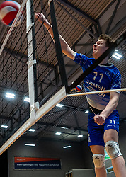 Geoffrey van Gent of Lycurgus in action during the cup final between Amysoft Lycurgus vs. Draisma Dynamo on April 18, 2021 in sports hall Alfa College in Groningen