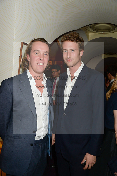 Left to right, MICHAEL WALKER and the HON.FREDDIE HESKETH at Tatler Magazine's Little Black Book Party held at Annabel's, Berkeley Square, London on 5th November 2013.