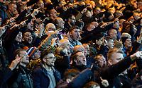 Luton Town fans celebrate when their side equalises<br /> <br /> Photographer Alex Dodd/CameraSport<br /> <br /> The EFL Sky Bet Championship - 191123 Luton Town v Leeds United - Saturday 23rd November 2019 - Kenilworth Road - Luton<br /> <br /> World Copyright © 2019 CameraSport. All rights reserved. 43 Linden Ave. Countesthorpe. Leicester. England. LE8 5PG - Tel: +44 (0) 116 277 4147 - admin@camerasport.com - www.camerasport.com