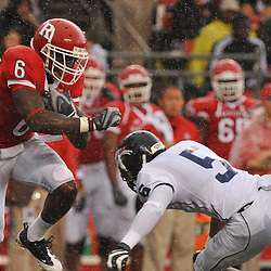 Sep 12, 2009; Piscataway, NJ, USA; Rutgers wide receiver Mohamed Sanu (6) returns a punt during the first half of Rutgers' 45-7 victory over Howard in NCAA College Football at Rutgers Stadium.