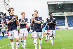 Falkirk players at the end.<br /> Falkirk 3 v 1 Alloa Athletic, Scottish Championship game played today at The Falkirk Stadium.<br /> © Michael Schofield.