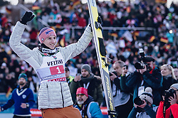 01.01.2020, Olympiaschanze, Garmisch Partenkirchen, GER, FIS Weltcup Skisprung, Vierschanzentournee, Garmisch Partenkirchen, Siegerehrung, im Bild 2. Platz Karl Geiger (GER) // 2nd placed Karl Geiger of Germany during the winner ceremony for the Four Hills Tournament of FIS Ski Jumping World Cup at the Olympiaschanze in Garmisch Partenkirchen, Germany on 2020/01/01. EXPA Pictures © 2019, PhotoCredit: EXPA/ JFK