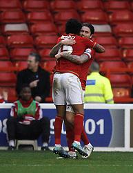 Ryan Mendes of Nottingham Forest celebrates scoring his sides second goal - Mandatory byline: Jack Phillips / JMP - 07966386802 - 19/12/2015 - FOOTBALL - The City Ground - Nottingham, Nottinghamshire - Nottingham Forest v MK Dons - Sky Bet Championship