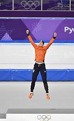 12-02-2018 SCHAATSEN: OLYMPISCHE SPELEN: OLYMPIC GAMES: PYEONGCHANG 2018<br /> Ireen Wust (JustLease.nl) Olympisch kampioen 1500 meter<br /> <br /> Foto: Soenar Chamid