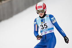 February 8, 2019 - Eva Pinkelnig of Austria on first competition day of the FIS Ski Jumping World Cup Ladies Ljubno on February 8, 2019 in Ljubno, Slovenia. (Credit Image: © Rok Rakun/Pacific Press via ZUMA Wire)
