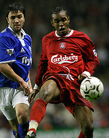 Fotball<br /> Premier League 30.11.2003<br /> Liverpool v Birmingham<br /> Florent Sinama-Pongolle - Liverpool<br /> Foto: Morten Olsen, Digitalsport