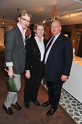 Left to right, HENRY CONWAY and his parents DEREK & COLETTE CONWAY at the Inspiring Morocco launch held at Harrods, Knightsbridge, London on 3rd November 2011.