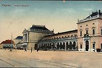 Zagreb : Državni kolodvor. <br /> <br /> Impresum[S. l. : S. n., 191-].<br /> Materijalni opis1 razglednica : tisak ; 8,7 x 13,9 cm.<br /> Vrstavizualna građa • razglednice<br /> ZbirkaZbirka razglednica • Grafička zbirka NSK<br /> Formatimage/jpeg<br /> PredmetZagreb –– Trg kralja Tomislava<br /> SignaturaRZG-TOM-25<br /> Obuhvat(vremenski)20. stoljeće<br /> NapomenaRazglednica je putovala. • Razglednicu je pregledala vojna cenzura.<br /> PravaJavno dobro<br /> Identifikatori000953519<br /> NBN.HRNBN: urn:nbn:hr:238:288998 <br /> <br /> Izvor: Digitalne zbirke Nacionalne i sveučilišne knjižnice u Zagrebu
