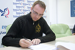 Robert Herga when Slovenian athletes and their coaches sign contracts with Athletic federation of Slovenia for year 2009,  in AZS, Ljubljana, Slovenia, on March 2, 2009. (Photo by Vid Ponikvar / Sportida)