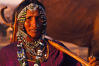 """A gypsy woman all dressed up during the annual camelfair in Pushkar, Rajasthan, India. 1993<br /> Available as Fine Art Print in the following sizes:<br /> 08""""x12""""US$   100.00<br /> 10""""x15""""US$ 150.00<br /> 12""""x18""""US$ 200.00<br /> 16""""x24""""US$ 300.00<br /> 20""""x30""""US$ 500.00"""