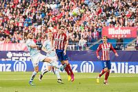 Atletico de Madrid's Godin and Griezmann during La Liga Match at Vicente Calderon Stadium in Madrid. May 14, 2016. (ALTERPHOTOS/BorjaB.Hojas)