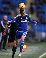 Craig Noone of Cardiff city in action. Skybet football league championship match, Cardiff city v Rotherham Utd at the Cardiff city stadium in Cardiff, South Wales on  Saturday 23rd January 2016.<br /> pic by  Andrew Orchard, Andrew Orchard sports photography.