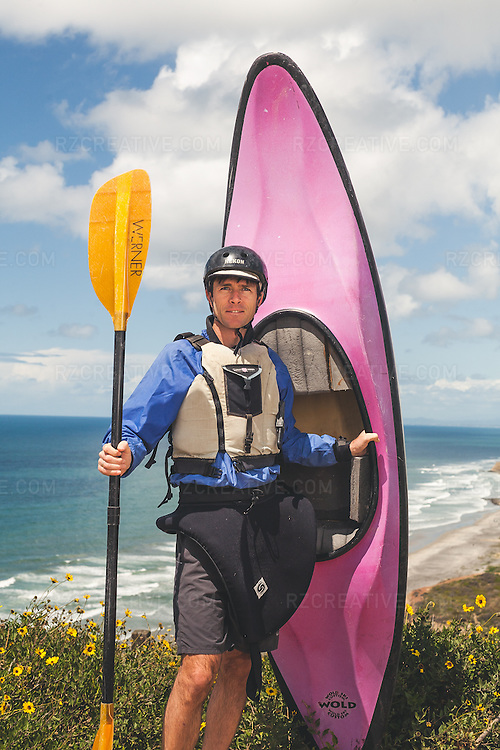 "Portrait of whitewater kayaker James ""Rocky"" Contos. Photo by Robert Zaleski/rzcreative.com"