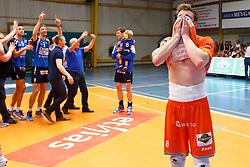 20150501 BEL: Volley Behappy2 Asse-Lennik - Knack Roeselare, Zellik<br />Seppe Baetens (8) of Volley behappy2 Asse - Lennik<br />©2014-FotoHoogendoorn.nl / Pim Waslander
