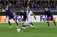 Il gol su rigore dell'1-0 di Nacer Chadli Tottenham<br /> Goal Celebration Tottenham<br /> Firenze 18-02-2016 Stadio Artemio Franchi<br /> Football Calcio Europa League 2015/2016 <br /> Round of 32 - 32esimi di Finale Fiorentina - Tottenham / Fiorentina - Tottenham<br /> Foto Luca Pagliaricci / Insidefoto