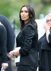 Christine Bleakley outside St Luke's and Christ Church, London, where the memorial service for former Chelsea player Ray Wilkins is being held. Wilkins, who began an impressive playing career at Stamford Bridge and also later coached them, died aged 61 following a cardiac arrest.