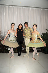 DANNI MINOGUE and dancers at a reception before the launch of the English National Ballet Christmas season launch of The Nutcracker held at the St,Martins Lane Hotel, London on 5th December 2008.