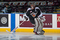 KELOWNA, CANADA - FEBRUARY 10: Ryan Kubic #20 of the Vancouver Giants skates during warm up against the Kelowna Rockets on February 10, 2017 at Prospera Place in Kelowna, British Columbia, Canada.  (Photo by Marissa Baecker/Shoot the Breeze)  *** Local Caption ***