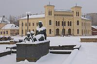 Nobel Peace Center. Winter in Oslo Norway