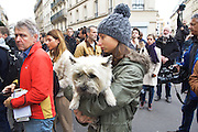 Paris citizens in shock, Rue Bichat<br /><br />The Day after the terrorist jihadi attacks. Bullet holes and blood, mourning homage and cleaning up. Aftermath of deadly Paris terrorist attacks. Saturday 14th November 2015<br /> <br /> Eight terrorists dead and some 128 people killed at Stade de France, Bataclan concert Hall, Belle Equipe Restaiurant, Rue Fontaine au Roi, Two hundred people have been injured, 80 of them seriously.