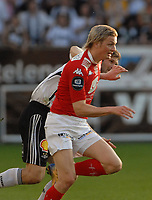 Fotball Tippeligaen 04.06.08 Rosenborg - ( RBK ) - Brann,<br /> Erik Huseklepp Brann og Bjørn Tore Kvarme RBK,<br /> Foto: Carl-Erik Eriksson, Digitalsport