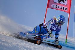 26.10.2013, Rettembach Ferner, Soelden, AUT, FIS Ski Alpin, FIS Weltcup, Ski Alpin, 1. Durchgang, im Bild Jessica Lindell-Vikarby from Sweden races down the course // Jessica Lindell-Vikarby from Sweden races down the course during 1st run of ladies Giant Slalom of the FIS Ski Alpine Worldcup opening at the Rettenbachferner in Soelden, Austria on 2012/10/26 Rettembach Ferner in Soelden, Austria on 2013/10/26. EXPA Pictures © 2013, PhotoCredit: EXPA/ Mitchell Gunn<br /> <br /> *****ATTENTION - OUT of GBR*****