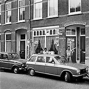 Nederland, Nijmegen, 7-10-1980Impressie,straatbeeld, van de wijk Bottendaal.In deze wijk kwamen  de eerste gastarbeiders uit Marokko en Turkije terecht.Foto: Flip Franssen