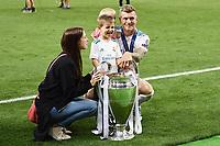 Toni Kroos Celebration cup<br /> Kiev 26-05-2018 Kiev Olympic Stadium <br /> Football Champions League 2017/2018 Final Real Madrid - Liverpool Foto Matteo Gribaudi/Image Sport/Insidefoto