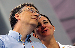 Bill Gates and his wife Melinda announce their divorce. The billionaire co-founder of Microsoft, and his wife, who reside in Washington State, are to divorce after twenty-seven years of marriage, and twenty years of working together in their foundation - File - Bill Gates and his wife Melinda attend the Swimming Finals during the XXIX Olympiad at the National Aquatics Center in Beijing, China on August 10, 2008. Photo by Jing Min/Cameleon/ABACAPRESS.COM
