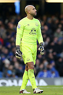 Goalkeeper Tim Howard of Everton looks on. Barclays Premier league match, Chelsea v Everton at Stamford Bridge in London on Saturday 16th January 2016.<br /> pic by John Patrick Fletcher, Andrew Orchard sports photography.