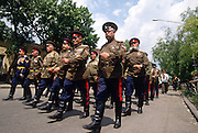 Russian Don Cossacks march through the streets during the annual Cossack Festival in Novocherkassk, Russia.