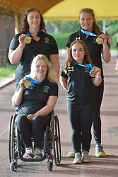 16 / 06 / 2016,  Orla Barry (Ladysbridge, Co. Cork), F57 class, Leevale Athletic Club, Niamh McCarthy (Carrigaline, F41 class, Paralympics Ireland Athletics, Noelle Lenihan (Charleville, F38 class, North Cork Athletic Club, Deirdre Mongan (originally from Milltown, Co. Galway now living in Newcastle, Co. Down), F53 class pictured  at the 2016 IPC Athletic European Championships in Grosseto, Italy