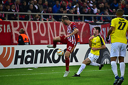 November 8, 2018 - Athens, Attiki, Greece - Vasilis Torosidis (no 35). of Olympiacos tries to control the ball..Olympiacos has won F91 Dudelange 5-1 for the UEFA Europa League. (Credit Image: © Dimitrios Karvountzis/Pacific Press via ZUMA Wire)