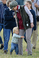 Princess Anne and Mia Tindall attend the Whatley Manor Gatcombe Horse Trials, Gatcombe Park, Minchinhampton, Gloucestershire, UK, on the 12th September 2015.<br /> <br /> Picture by James Whatling
